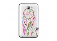 Coque Samsung Galaxy Note 1 Pink Painted Dreamcatcher