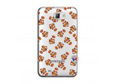 Coque Samsung Galaxy Note 1 Petits Poissons Clown