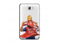 Coque Samsung Galaxy Note 1 Super Papa et Super Bébé