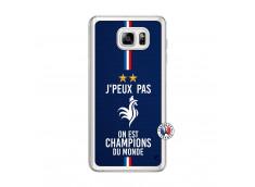 Coque Samsung Galaxy Note 3 Lite Je Peux Pas On Est Les Champions Du Monde Translu
