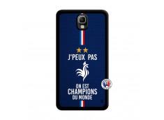 Coque Samsung Galaxy Note 3 Je Peux Pas On Est Les Champions Du Monde Noir