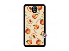 Coque Samsung Galaxy Note 3 Sorbet Pêche Noir