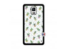 Coque Samsung Galaxy Note 4 Le Monde Entier est un Cactus Noir