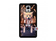 Coque Samsung Galaxy Note 4 Cat Nasa Noir