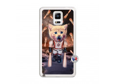 Coque Samsung Galaxy Note 4 Cat Nasa Translu