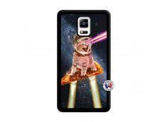 Coque Samsung Galaxy Note 4 Cat Pizza Noir