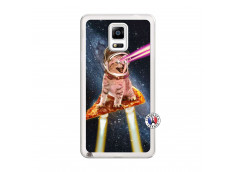 Coque Samsung Galaxy Note 4 Cat Pizza Translu
