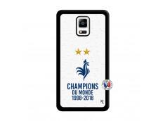 Coque Samsung Galaxy Note 4 Champion Du Monde Noir
