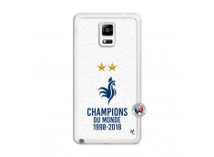 Coque Samsung Galaxy Note 4 Champion Du Monde Translu