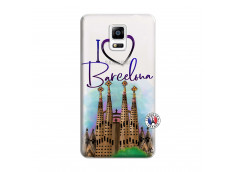 Coque Samsung Galaxy Note 4 I Love Barcelona