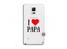 Coque Samsung Galaxy Note 4 I Love Papa
