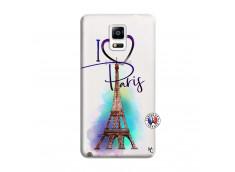 Coque Samsung Galaxy Note 4 I Love Paris