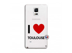 Coque Samsung Galaxy Note 4 I Love Toulouse