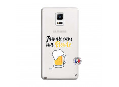 Coque Samsung Galaxy Note 4 Jamais Sans Ma Blonde