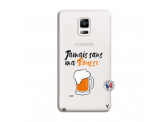 Coque Samsung Galaxy Note 4 Jamais Sans Ma Rousse