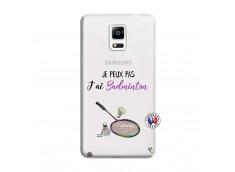 Coque Samsung Galaxy Note 4 Je Peux Pas J Ai Badminton