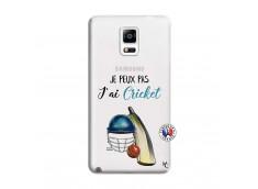 Coque Samsung Galaxy Note 4 Je peux pas j'ai cricket
