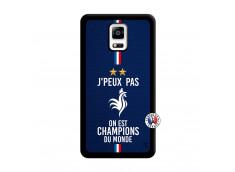 Coque Samsung Galaxy Note 4 Je Peux Pas On Est Les Champions Du Monde Noir