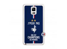 Coque Samsung Galaxy Note 4 Je Peux Pas On Est Les Champions Du Monde Translu