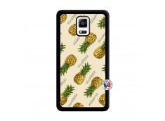 Coque Samsung Galaxy Note 4 Sorbet Ananas Noir
