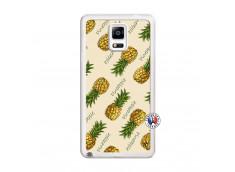 Coque Samsung Galaxy Note 4 Sorbet Ananas Translu