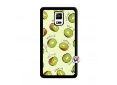 Coque Samsung Galaxy Note 4 Sorbet Kiwi Noir