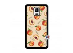Coque Samsung Galaxy Note 4 Sorbet Pêche Noir