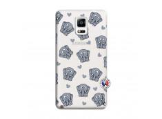 Coque Samsung Galaxy Note 4 Petits Elephants