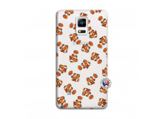 Coque Samsung Galaxy Note 4 Petits Poissons Clown