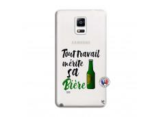 Coque Samsung Galaxy Note 4 Tout Travail Merite Sa Biere