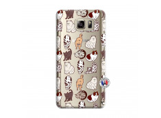 Coque Samsung Galaxy Note 5 Cat Pattern
