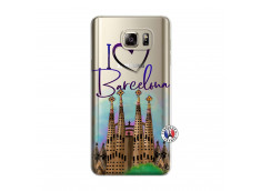 Coque Samsung Galaxy Note 5 I Love Barcelona