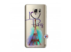 Coque Samsung Galaxy Note 5 I Love Paris