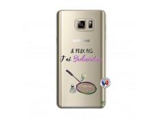 Coque Samsung Galaxy Note 5 Je Peux Pas J Ai Badminton
