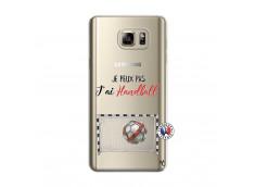 Coque Samsung Galaxy Note 5 Je peux pas j'ai Handball