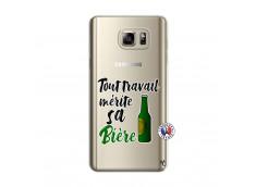 Coque Samsung Galaxy Note 5 Tout Travail Merite Sa Biere