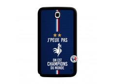 Coque Samsung Galaxy Note 8.0 Je Peux Pas On Est Les Champions Du Monde Noir