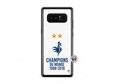 Coque Samsung Galaxy Note 8 Champion Du Monde Translu