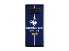 Coque Samsung Galaxy Note 8 Champions Du Monde 1998 2018 Transparente