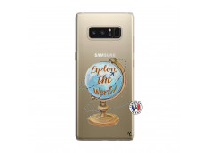 Coque Samsung Galaxy Note 8 Globe Trotter