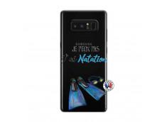 Coque Samsung Galaxy Note 8 Je Peux Pas J Ai Natation