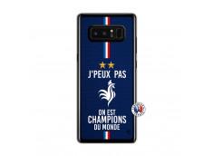 Coque Samsung Galaxy Note 8 Je Peux Pas On Est Les Champions Du Monde Translu