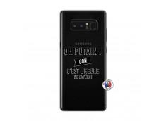 Coque Samsung Galaxy Note 8 Oh Putain C Est L Heure De L Apero