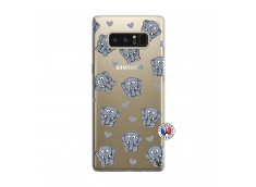 Coque Samsung Galaxy Note 8 Petits Elephants