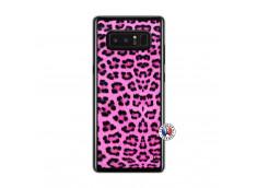 Coque Samsung Galaxy Note 8 Pink Leopard Translu