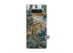 Coque Samsung Galaxy Note 8 Leopard Jungle
