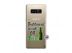 Coque Samsung Galaxy Note 8 Tout Travail Merite Sa Biere