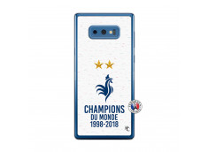 Coque Samsung Galaxy Note 9 Champion Du Monde Translu