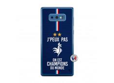 Coque Samsung Galaxy Note 9 Je Peux Pas On Est Les Champions Du Monde Translu