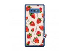 Coque Samsung Galaxy Note 9 Sorbet Fraise Translu